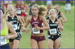 Florida Tech cross country at the UT Early Bird Classic cross country meet in Dover (Tampa), FL